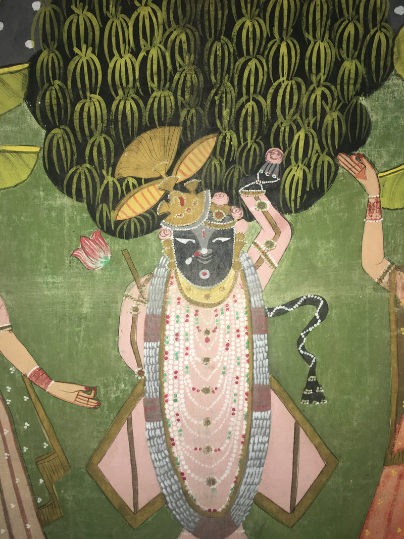 Evocative Cloth Indian Painting