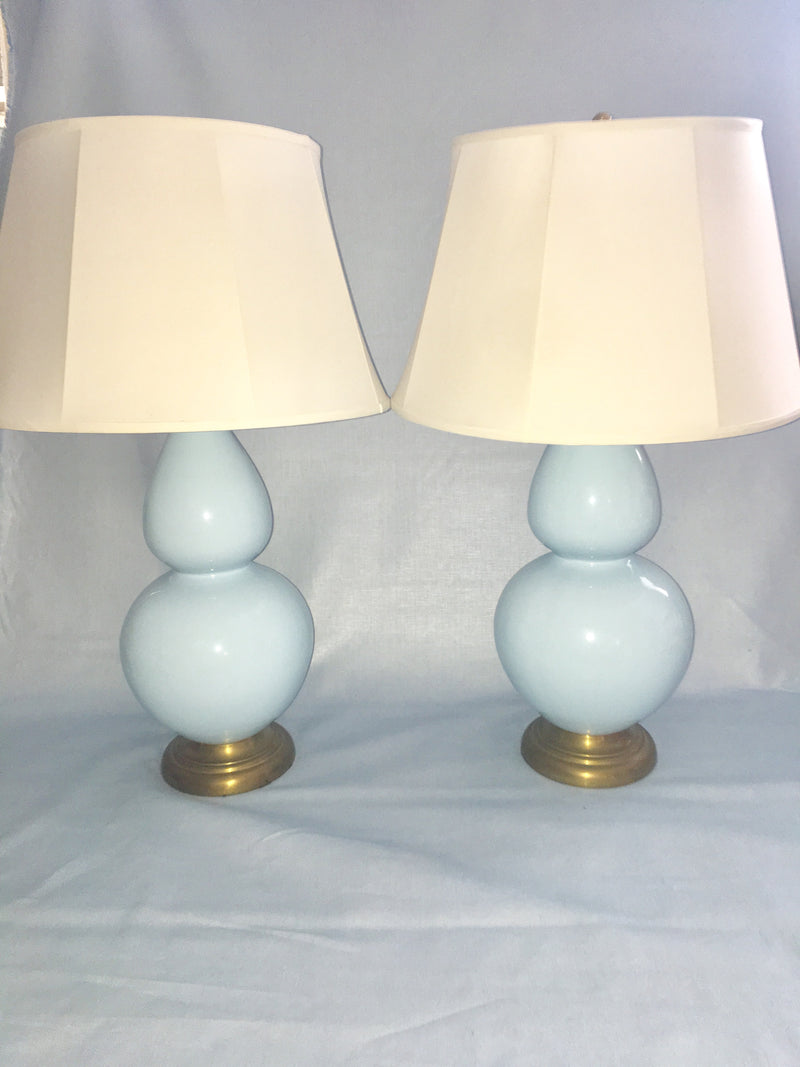 Pair of Gourd Lamps