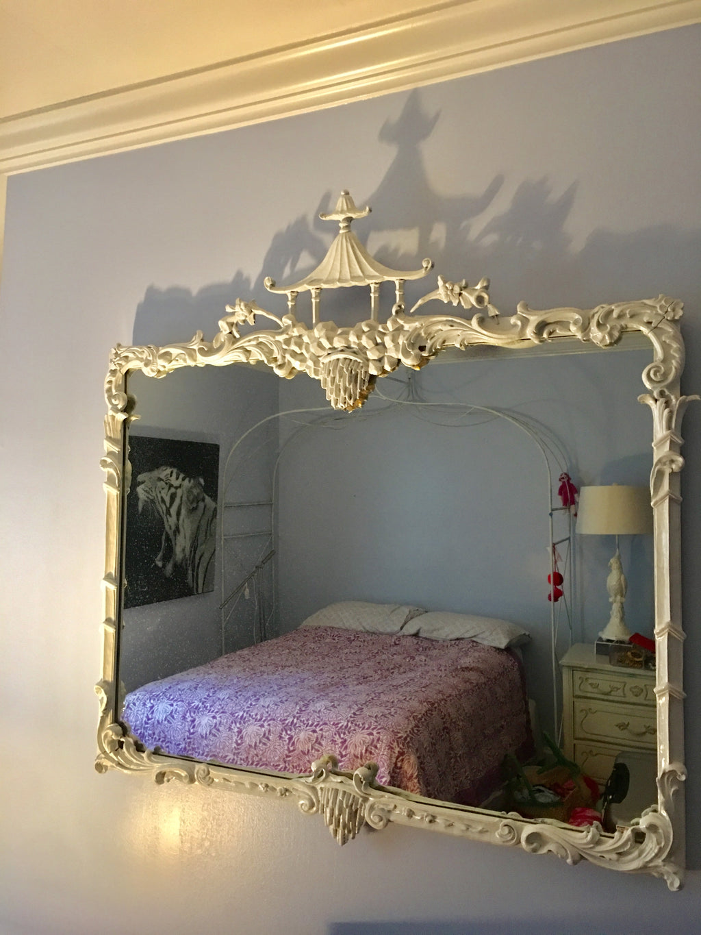 High Gloss Chinoiserie Mirror