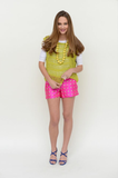 The Hunter Shorts in Pink Crest