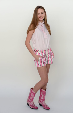 The Hunter Shorts in Pink Stripe~ Only 1 left !