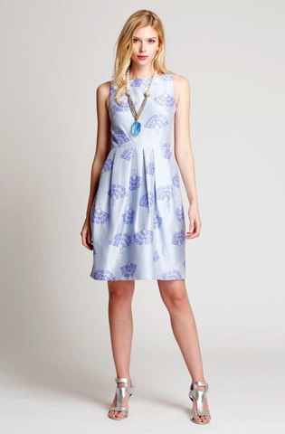 The Dahlia dress in Lavender Gray Floral