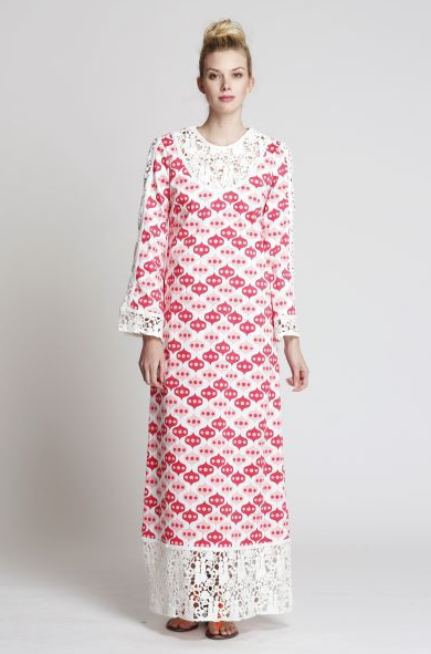 The India Housecoat in Pink Lantern- 1 left!