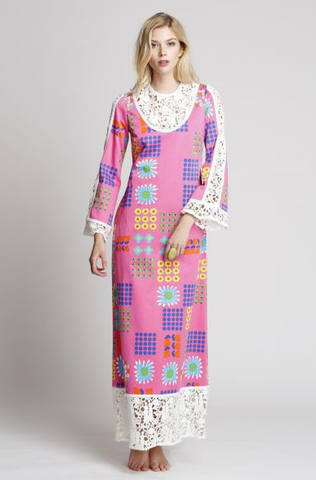 The India Housecoat in Daisy Love