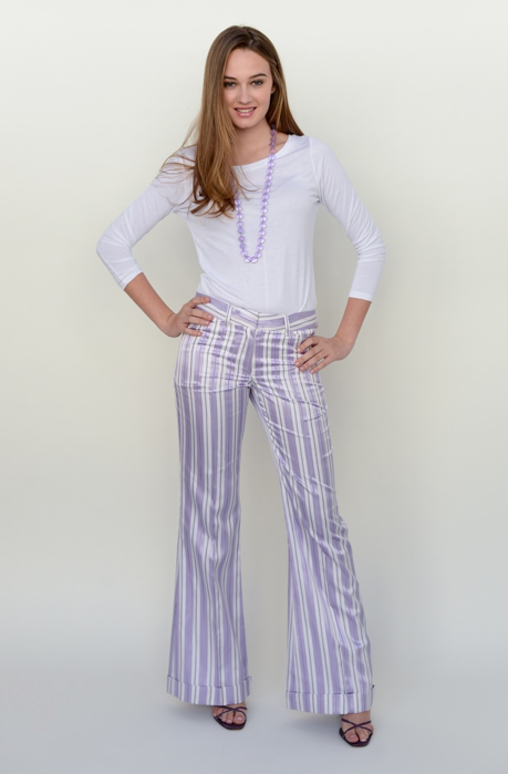 The Wyatt Trousers in Purple Stripe