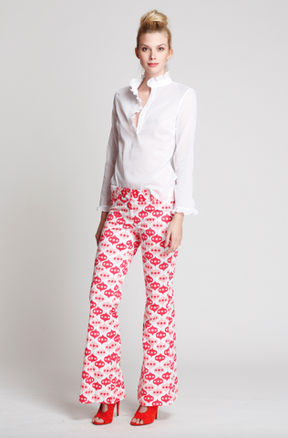 The Isabel Pants in Pink Lantern