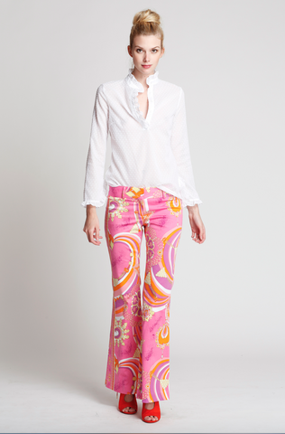 The Harbour Island Pants in Pink Lantern