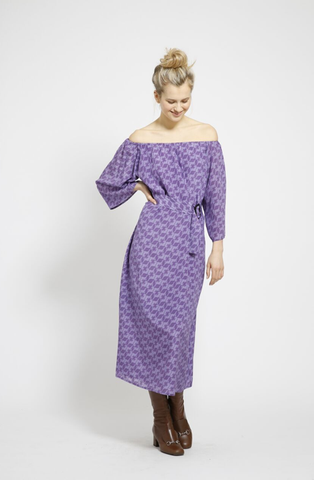 The Jaipur short dress in Lavender Peace