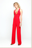 The York pantsuit in Solid Red