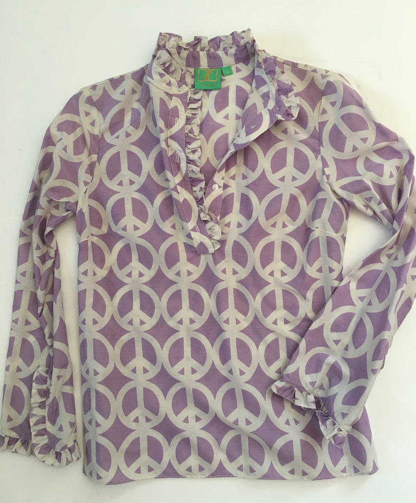 The Teacel in Lavender Peace print