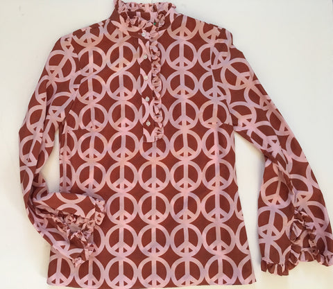 The Teacel in Brown Peace print
