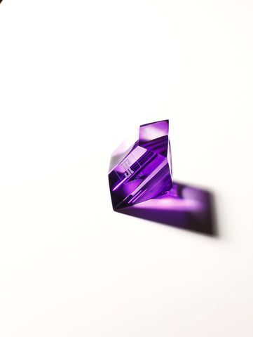 The Lucite Rock Ring in Purple