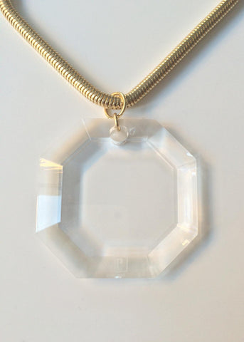 The Eleanor Lucite Necklace in Orange