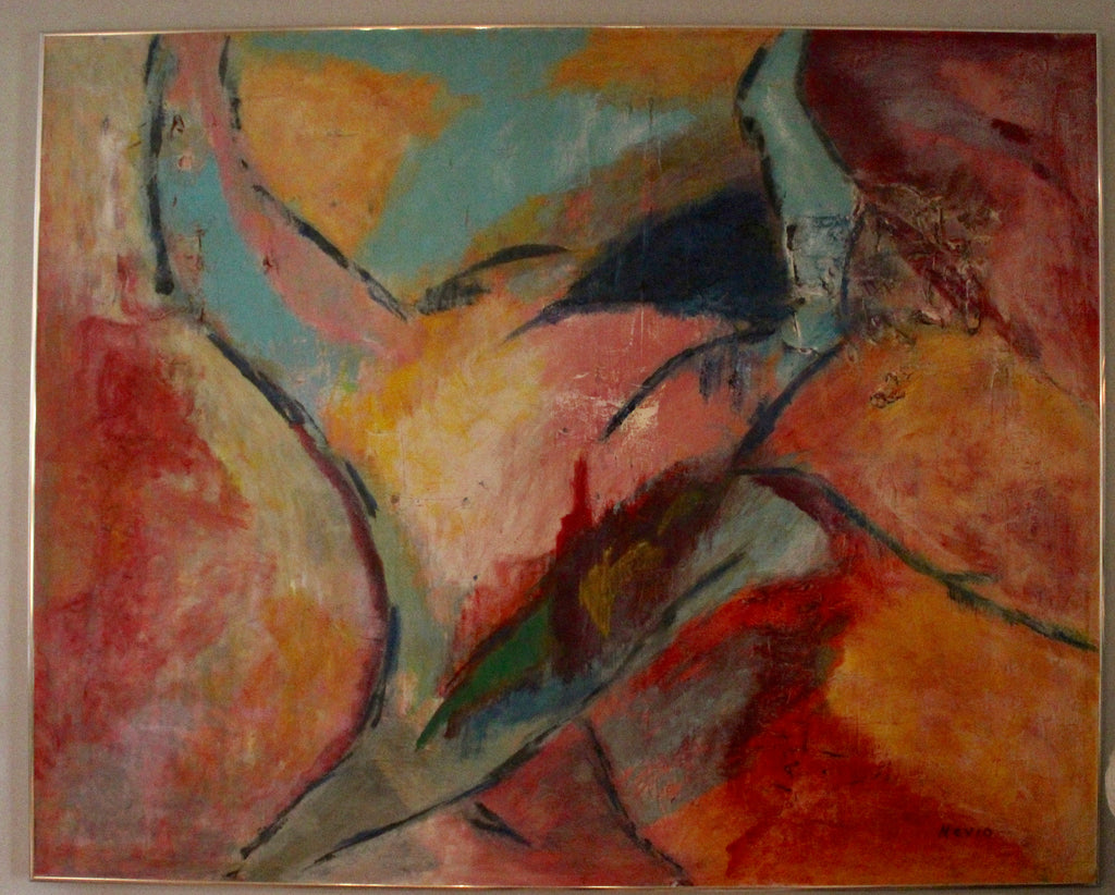 Abstract Lovers Painting by Nevio