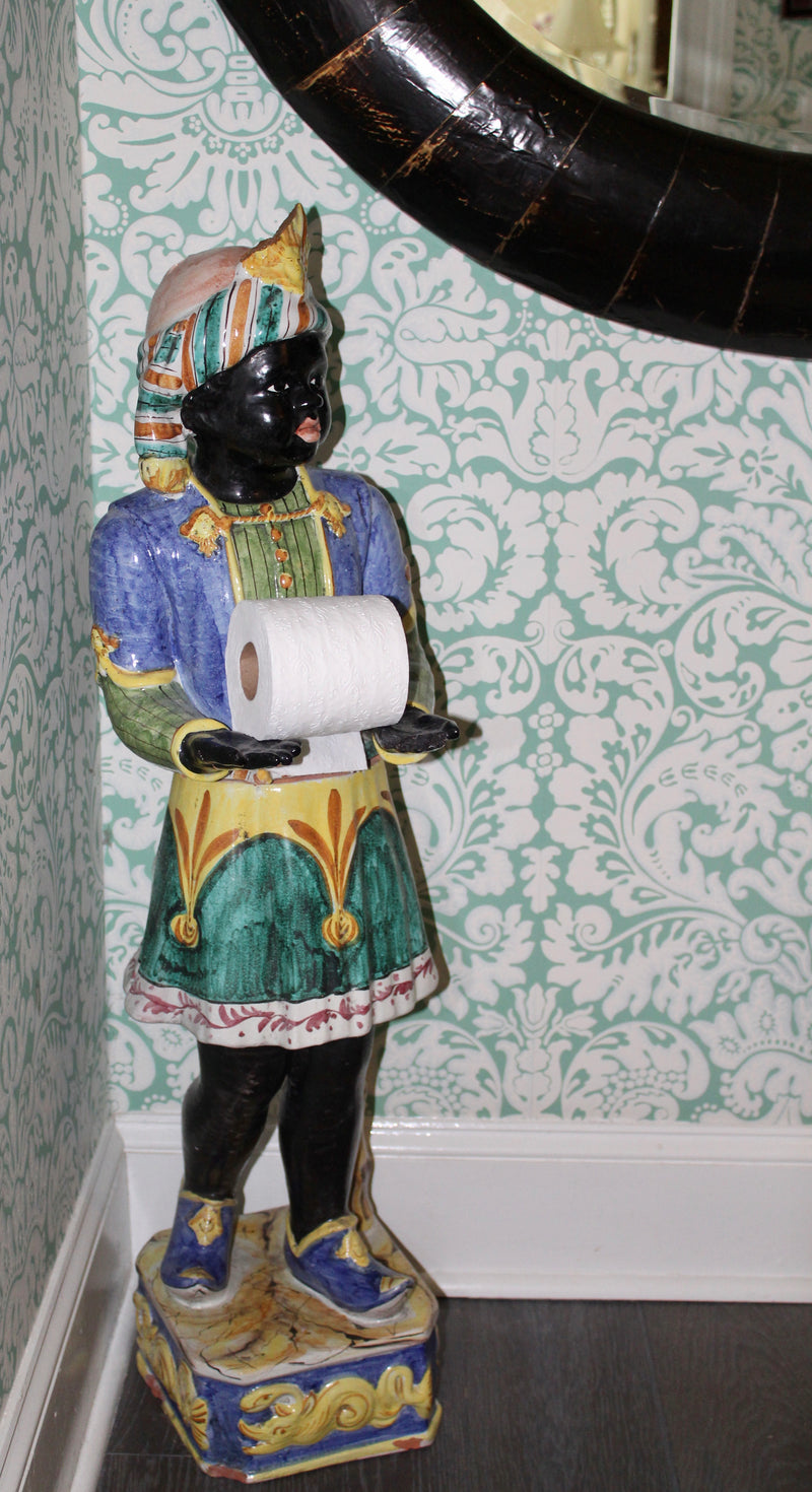 Ceramic Blackamoor Tall Figure