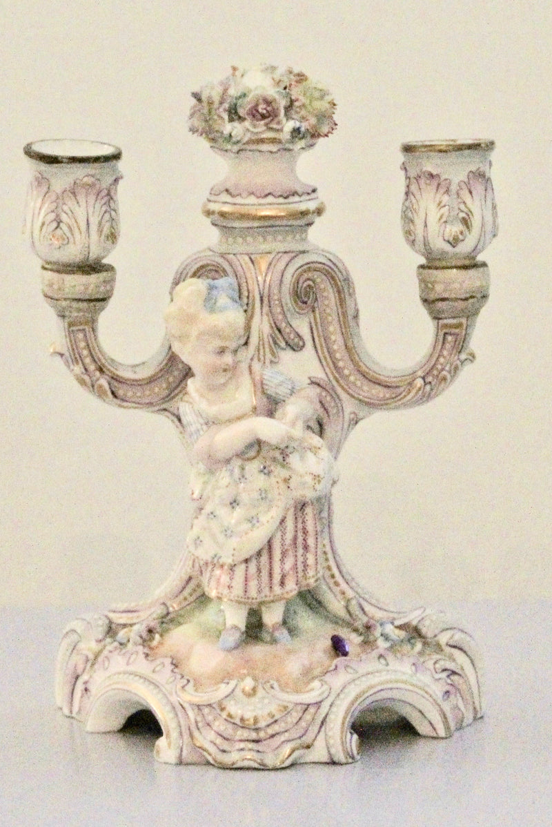 Porcelain Antique French Candelabra