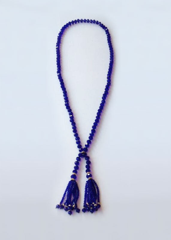 The Julia Beaded Tassel in Royal Blue
