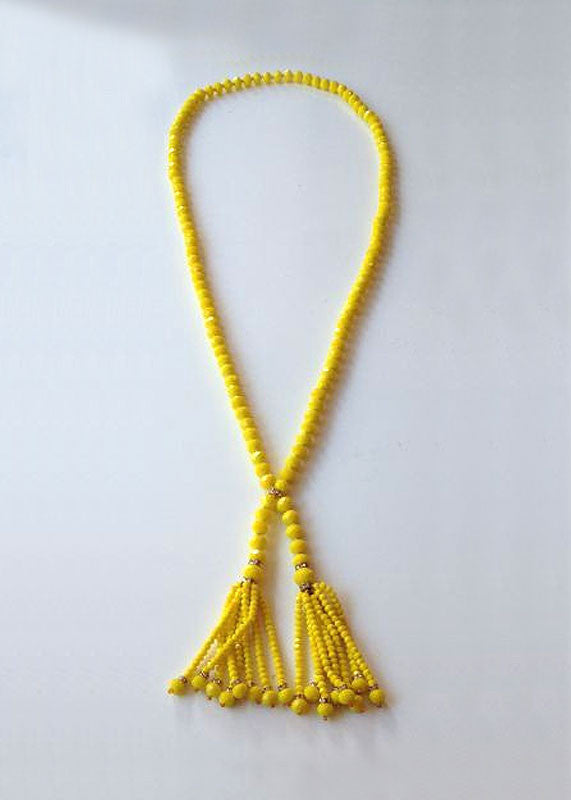 The Julia Beaded Tassel in Canary Yellow