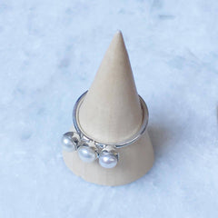 Triple Pearl Ring