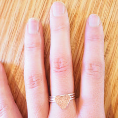 Hammertone Heart Ring