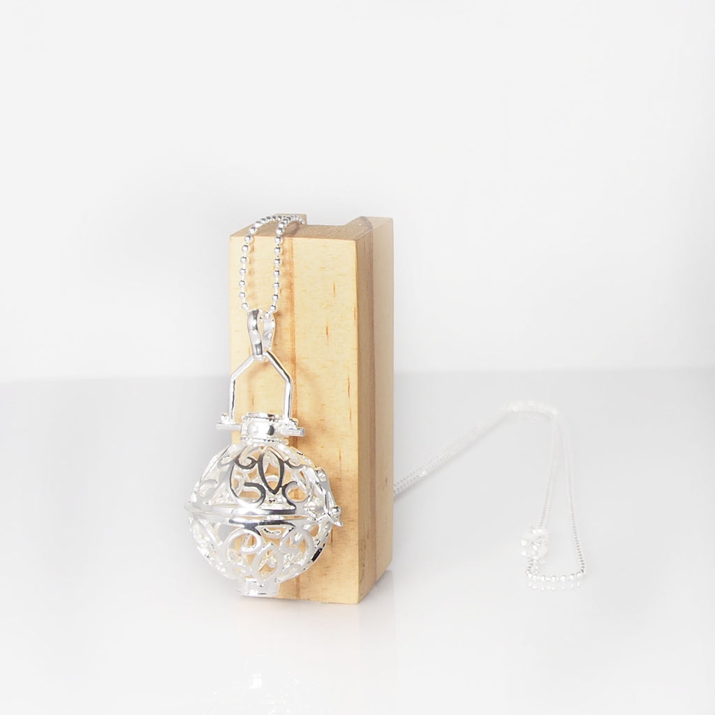 Mexican Lantern Necklace - Silver Plated