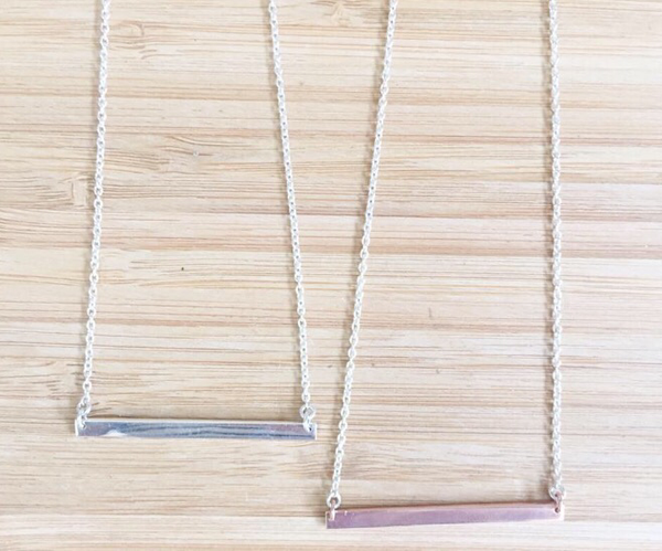 Classic Bar Necklace - Silver or Rose Gold