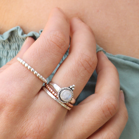 Moonstone Pinnacle Ring