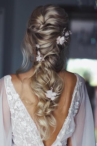 Bridal hair styles for asian indian pakistani weddings messy plait