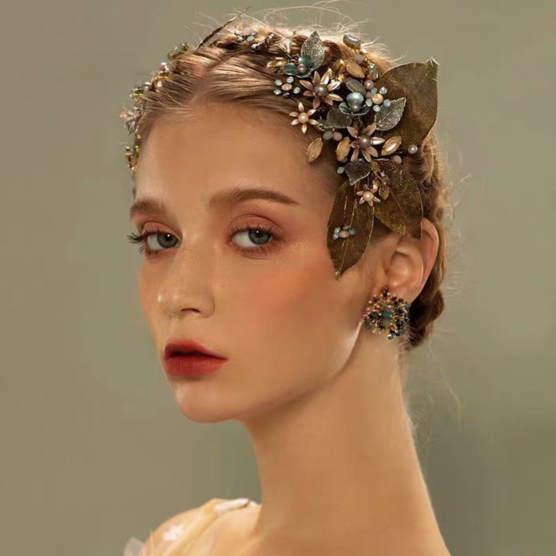 Retro Luxury Crystal Wedding Hair Accessory