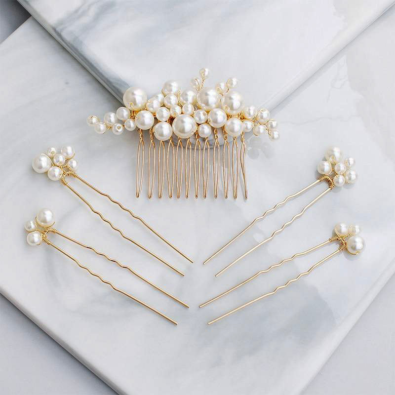 Pearl Wedding Hair Pins wedding hairpieces for the bride