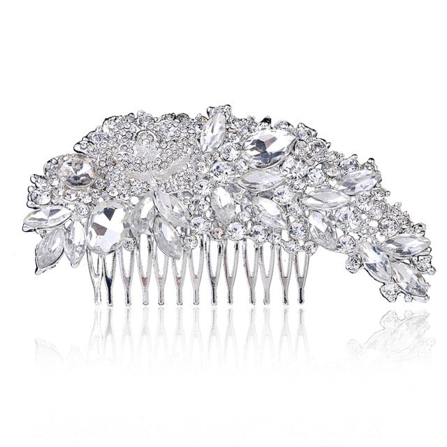 Wedding Crystal Hair Comb - Bridal Combs for Hair