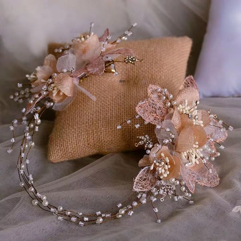 Romantic Flower Bridal Headband - Hair accessories for a Wedding