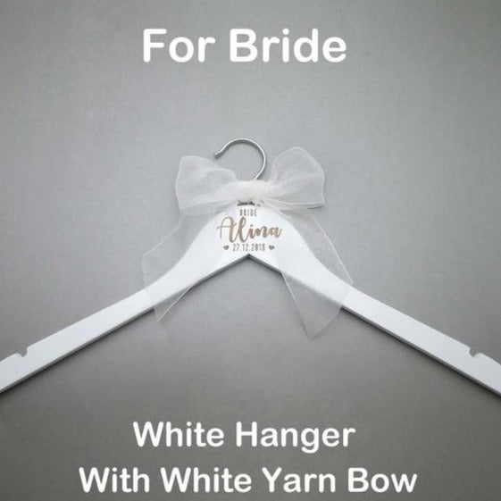 Personalised Name Wedding Hanger UK - Custom Wedding Accessories