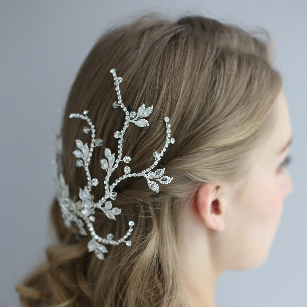 Silver Crystal Bridal Hair Vine Headpiece- Accessories for a Bride