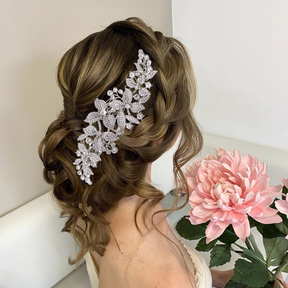 Floral Bridal Hairpiece - Bridal Accessories for Hair