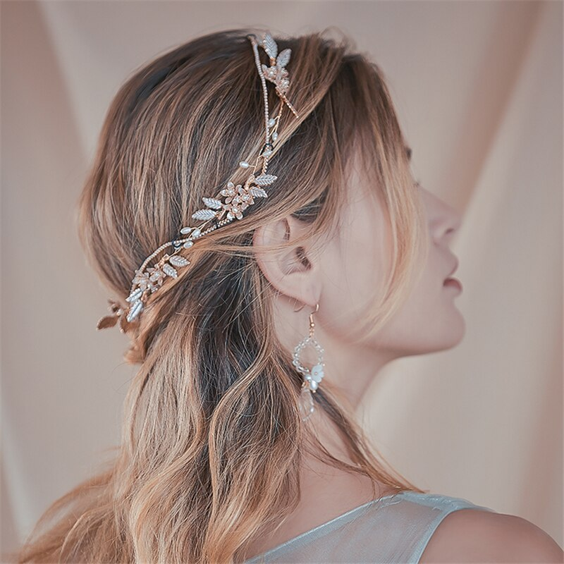 Freshwater Pearl Headband & Earrings - Wedding Accessories for Bride