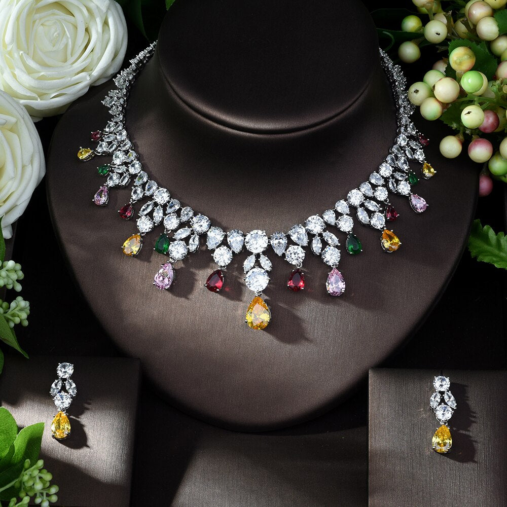 Cubic Zirconia Jewellery Sets for Bridal