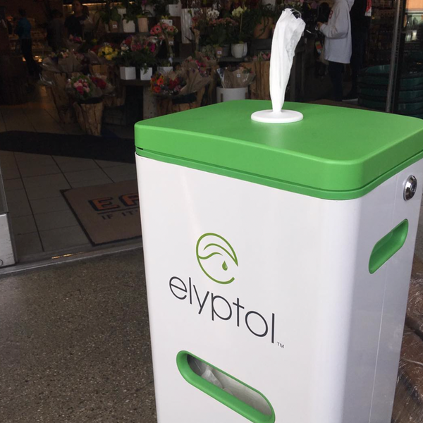 Elyptol Bulk Wipe Dispensing Stand - White