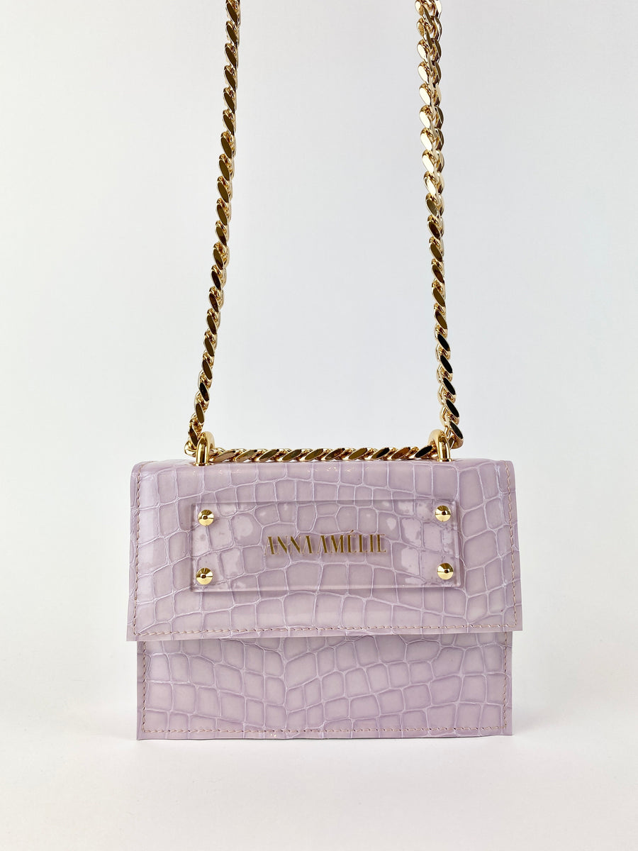 JUNE BAG  |  LILAC PATENT CROC