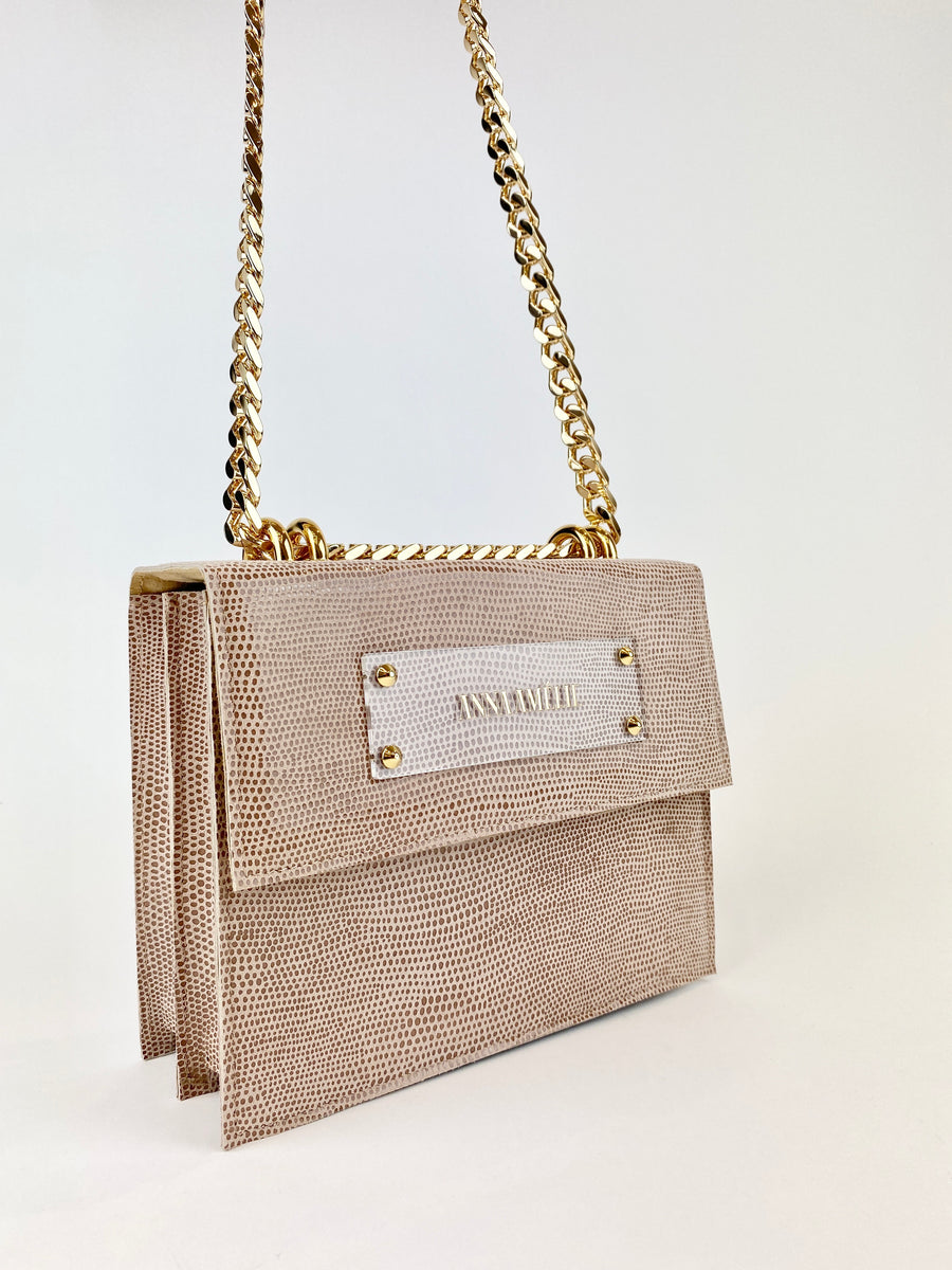 APRIL BAG  |  BLUSH SPOTTED SUEDE