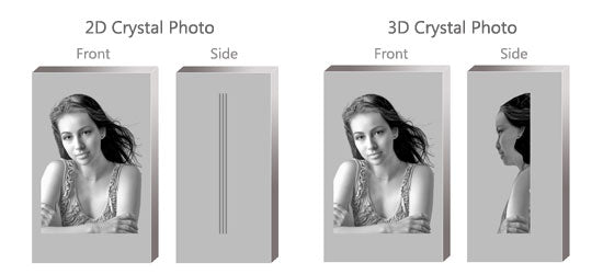 3d engraved crystal photo