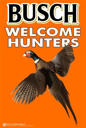 "Busch Welcome Hunters 24"" x 36"""