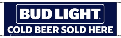 Bud Light Pre-Printed Event Banners 3' x 10'