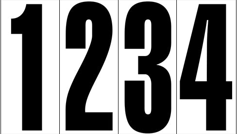 "18"" Black Number Decals (25 per pack)"
