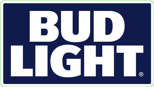 Bud Light 1 Color Stacked Fleet Decal