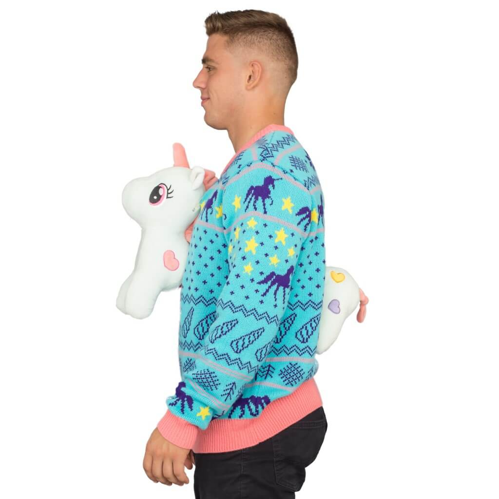 3D Unicorn Ugly Christmas Sweater