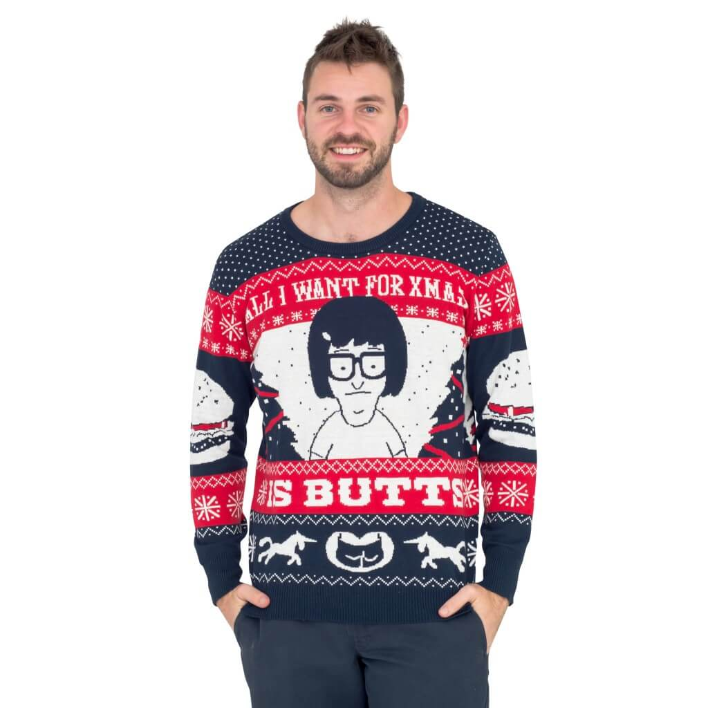 All I Want for Xmas is Butts – Tina from Bob's Burgers Ugly Sweater