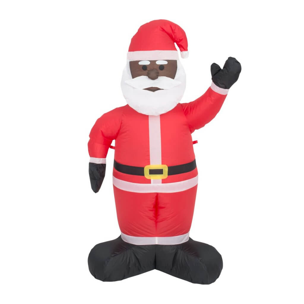 Black Santa Lawn Inflatable Decoration