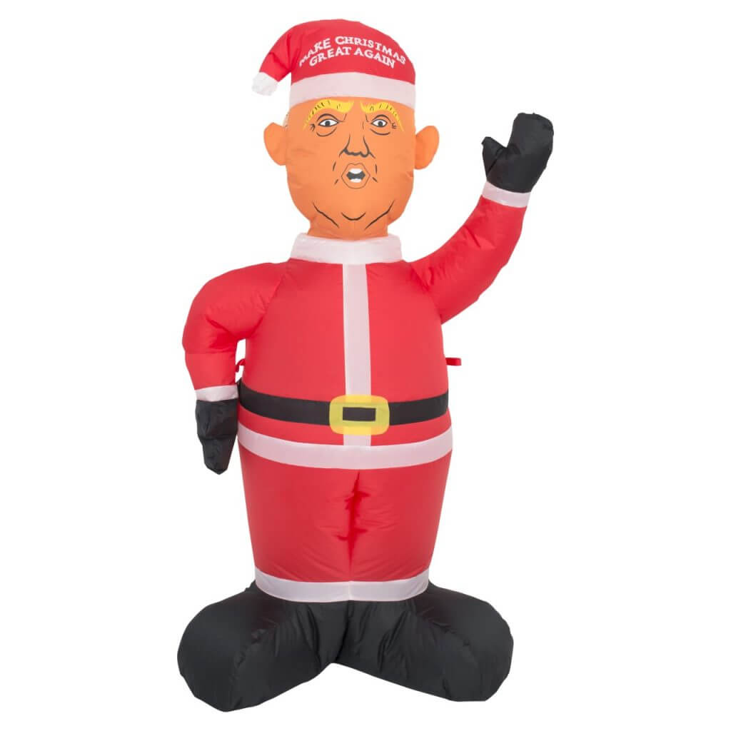 Nice Christmas Inflatable Part - 3: Donald Trump Make Christmas Great Again Lawn Inflatable