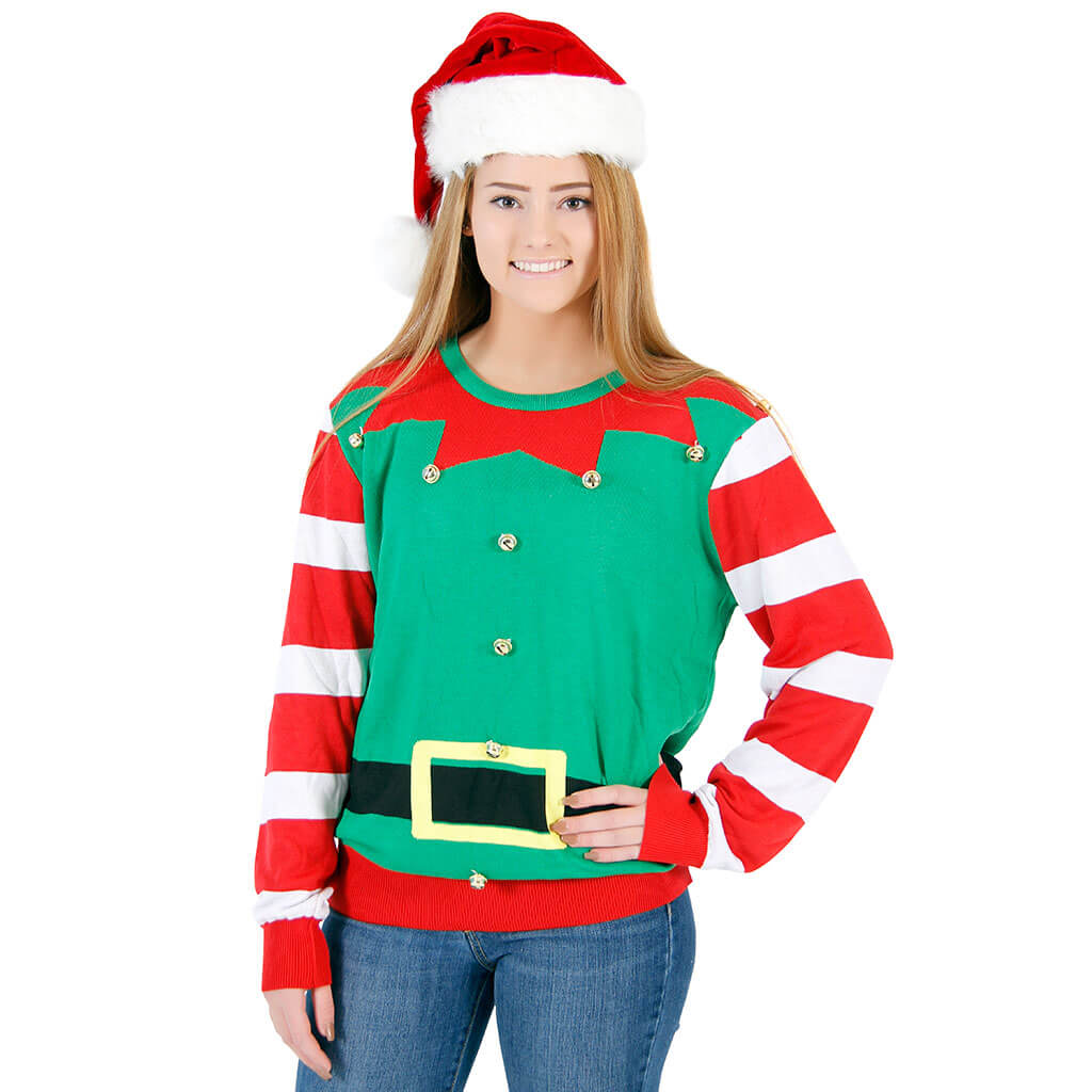 womens elf christmas sweater - Ugly Christmas Sweater Elf